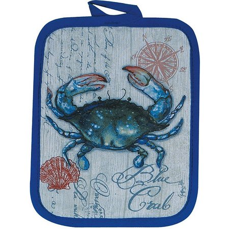 Kay Dee Designs Blue Crab Pot Holder
