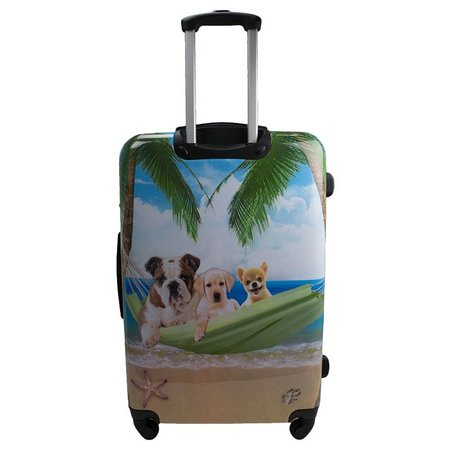 Chariot 25'' Dogs On Hammock Hardside Spinner Luggage