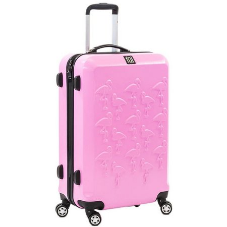 FUL 20'' Flamingo Embossed Hardside Luggage