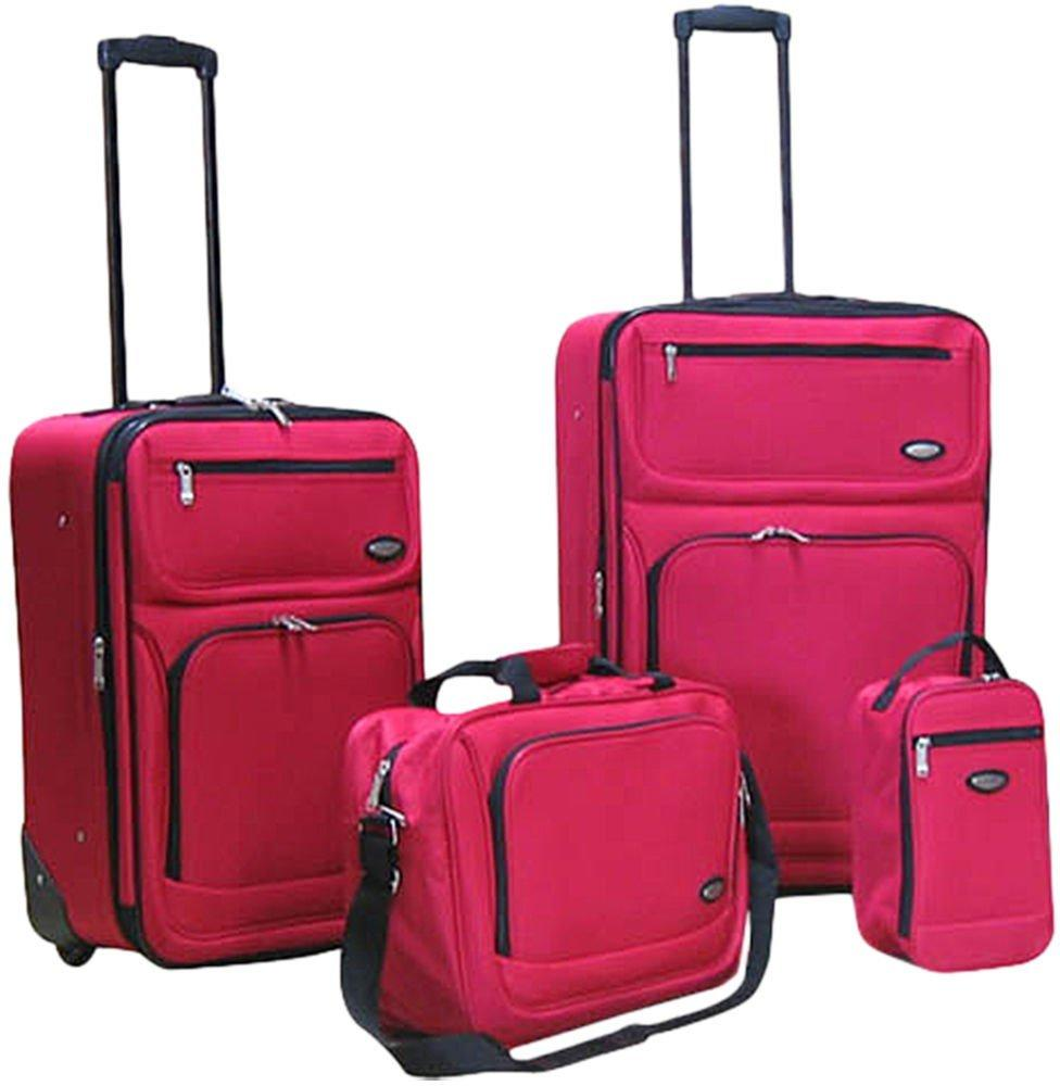 Hercules Jetlite 4-pc. Solid Upright Luggage Set Deals
