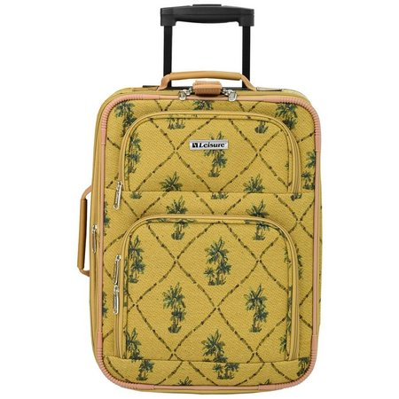 Leisure Luggage 18'' Palm Tapestry Upright Luggage