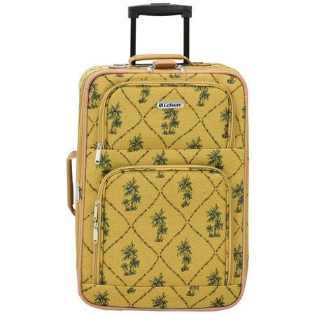 Leisure Luggage 21'' Palm Tapestry Upright Luggage
