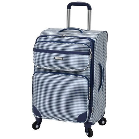 London Fog 20'' Hampton Navy Gingham Luggage