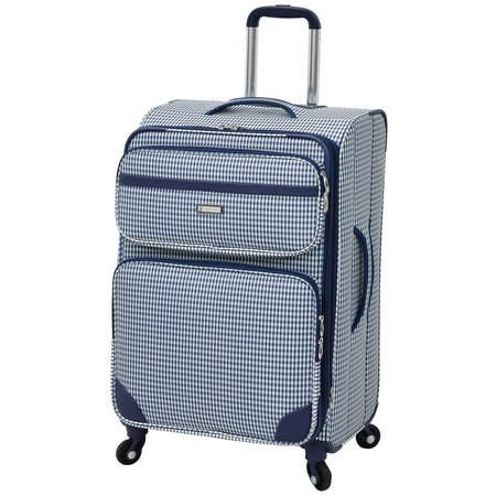 London Fog 24'' Hampton Navy Gingham Luggage