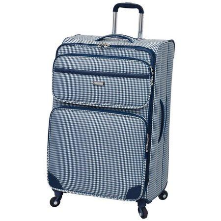 London Fog 28'' Hampton Navy Gingham Luggage