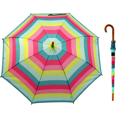 Misty Harbor Fun Stripe Stick Umbrella