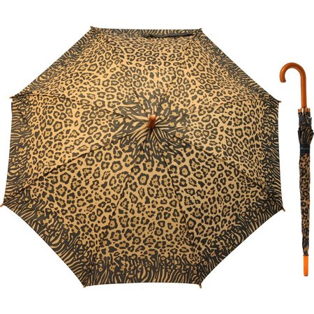 Misty Harbor Leopard Print Stick Umbrella