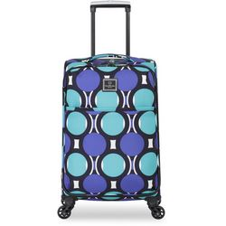 French West Indies 20'' Teal Dot Spinner Luggage