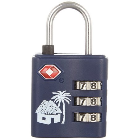 Caribbean Joe Single Combo Luggage Lock