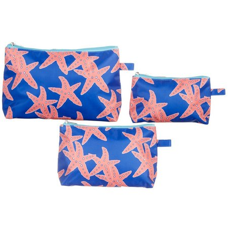 Twist of Color Starfish 3-pc. Cosmetic Bag Set