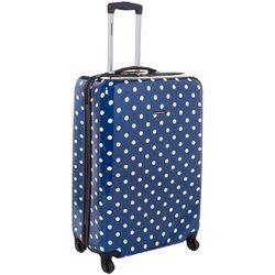 CIAO! 24 Blue Polka Dot Hardside Spinner Luggage
