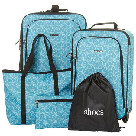 CIAO! 5-pc. Starfish Print Luggage Set