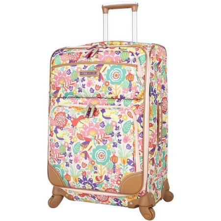 Lily Bloom Tulips & Tweets 28'' Spinner Luggage