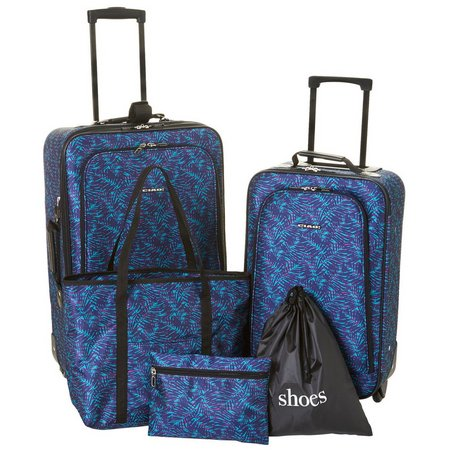 CIAO! 5-pc. Palm Leaf Print Luggage Set