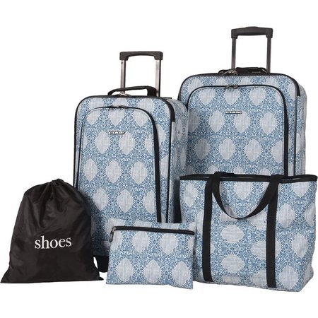 CIAO! 5-pc. Blue Paisley Luggage Set