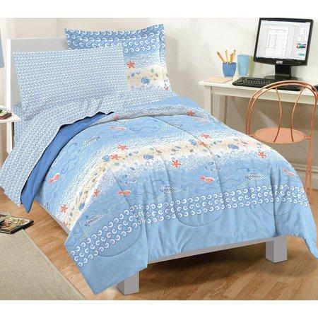 Dream Factory Beach Stripe Comforter Set