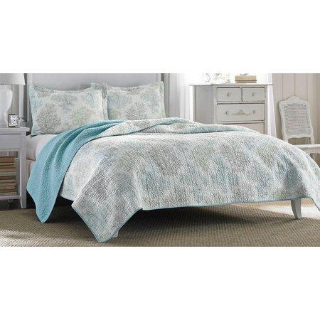 Laura Ashley Saltwater Blue Quilt Set