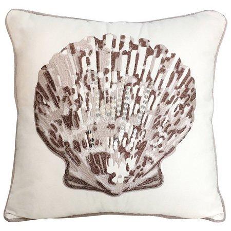 Bayshore Drive Marco Island Shell Pillow