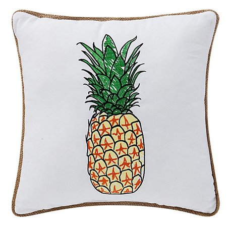 Bayshore Drive Pineapple Decorative Pillow