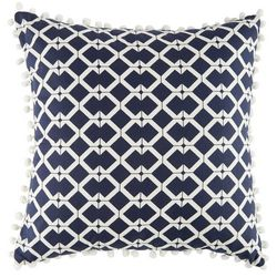 Bayshore Drive Printed Pom Pom Decorative Pillow