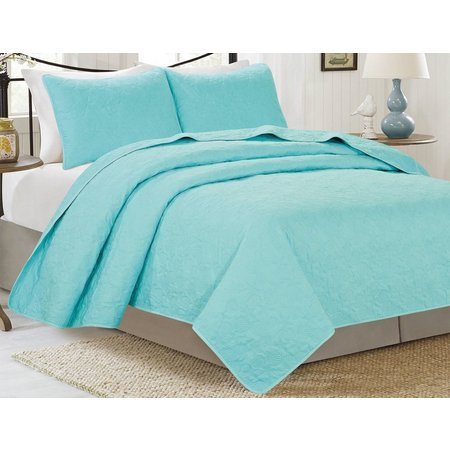 CHD Home Textiles Laurence Shell Solid Quilt Set