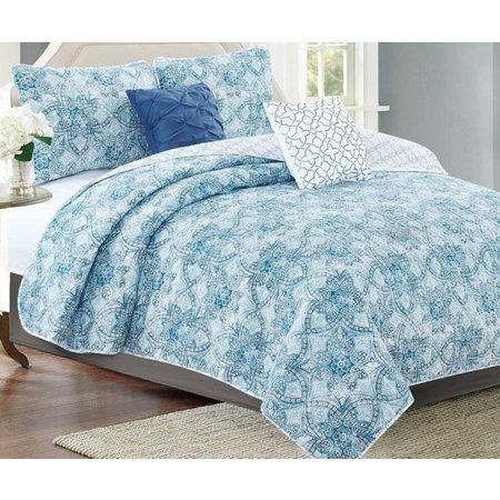 CHD Home Textiles Bellview Mineral 5-pc. Quilt Set