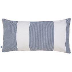 Southern Tide Nautical Navy Seersucker Pillow