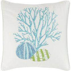 Trinidad Coral Print Decorative Pillow