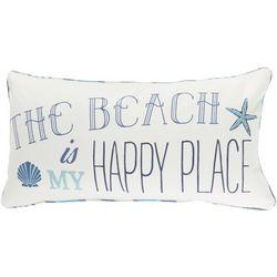 St. Lucia Beach Happy Place Decorative Pillow
