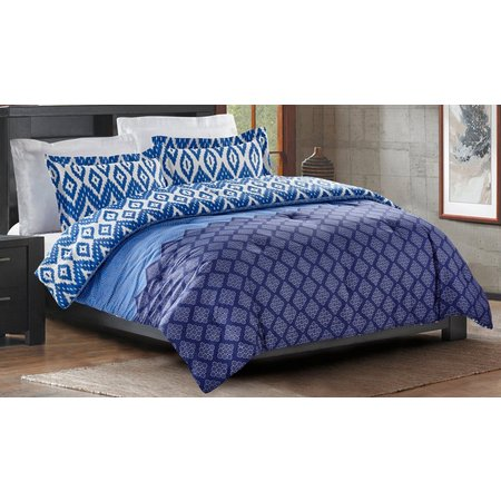 Karma 3-pc. Kantha Blue Comforter Set