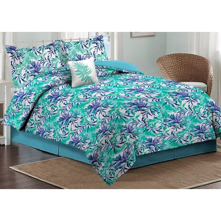 Caribbean Joe Orchid Palm Comforter Set
