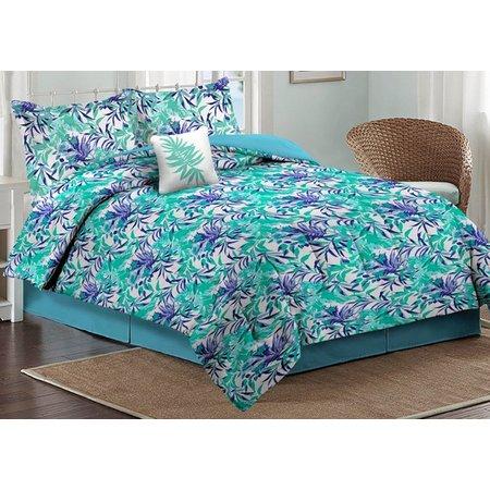 Caribbean Joe Orchid Palm Comforter Set