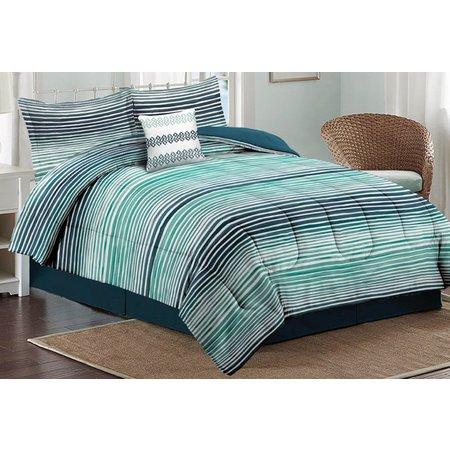 Caribbean Joe Watercolor Ombre Comforter Set