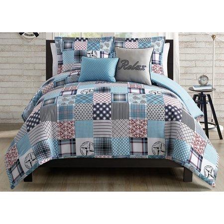 S.L. Home Fashions Coastal Patchwork Comforter Set