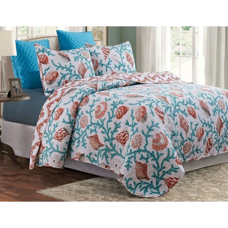 By The Seashore Coral Reef Quilt Set