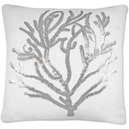 Elise & James Home White Aegan Coral Pillow