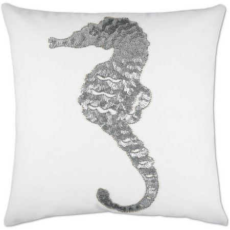 Elise & James Home Sequin Seahorse Pillow