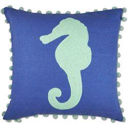 Elise & James Home Seahorse Pom Decorative Pillow