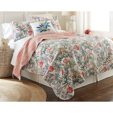 Elise & James Home Watercolor Tropical Quilt Set