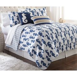 Elise & James Home Seymour Seahorse Quilt Set