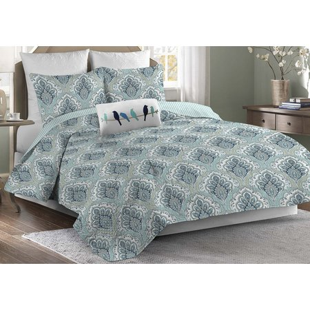 Elise & James Home Micah Blue 3-pc. Quilt