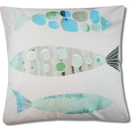 Red Pineapple Noma Fish Trio Pillow