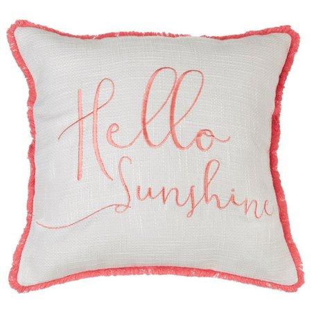 Red Pineapple Hello Sunshine Decorative Pillow