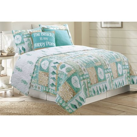 Coastal Home Marco Beach Cottage Quilt Set