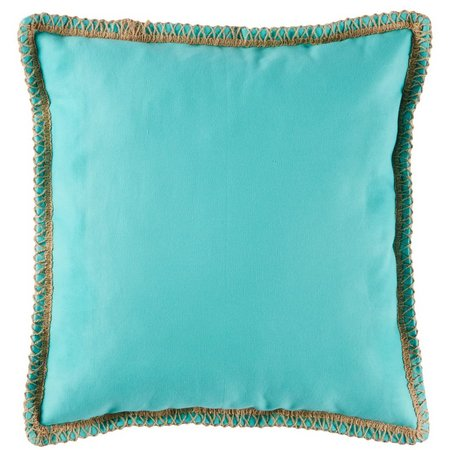 Coastal Home Blue Twine Decorative Pillow