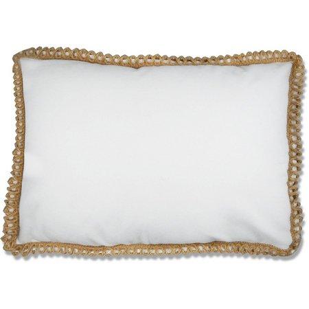 Elise & James Home White Twine Pillow