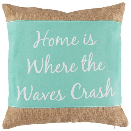 Coastal Home Where The Waves Crash Decorative Pillow