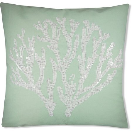 Elise & James Home Shell Island Sequin Pillow