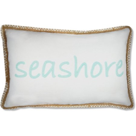 New! Elise & James Home Crewel Seahorse Pillow