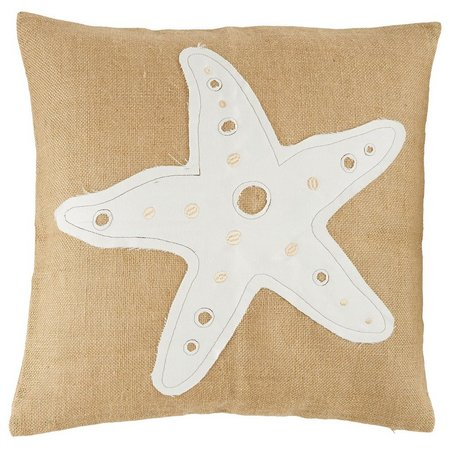 Elise & James Home Starfish Burlap Pillow